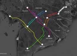 Hoàn thiện 7 dự án cao tốc ở Đồng bằng sông Cửu Long